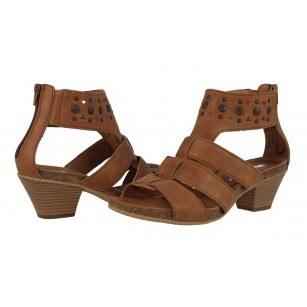 Дамски кожени сандали среден ток Gabor 4482064 кафяви