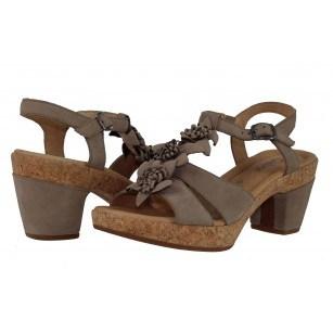 Дамски кожени сандали на среден ток Gabor 6273233 сиви