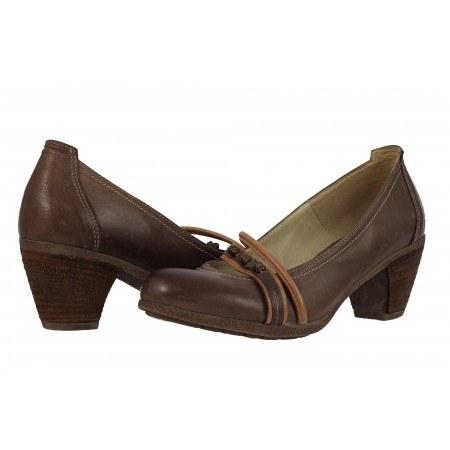 Дамски обувки среден ток Janet кафяви