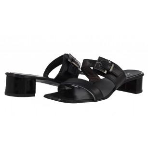 Дамски кожени сандали Janet  черни
