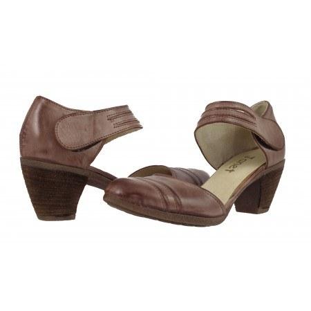 Дамски сандали среден ток Janet кафяви