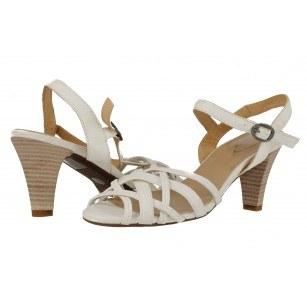 Дамски сандали среден ток Janet бели