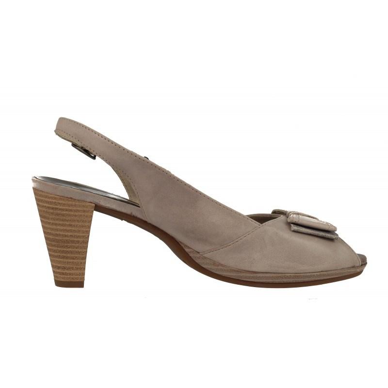 Дамски сандали среден ток Janet бежови