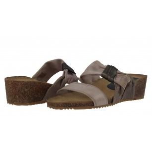 Дамски чехли на платформа естествена кожа Janet  бежови