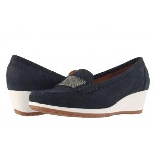 Дамски кожени обувки на платформа Ara сини 3092802