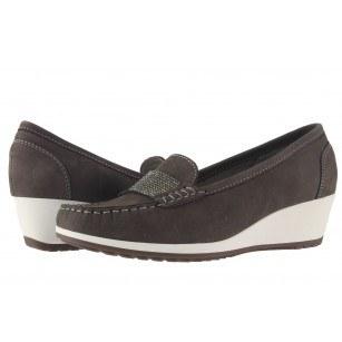 Дамски кожени обувки на платформа Ara сиви 3092815