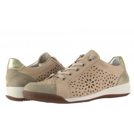 Дамски спортни обувки с връзки Ara естествена кожа бежови