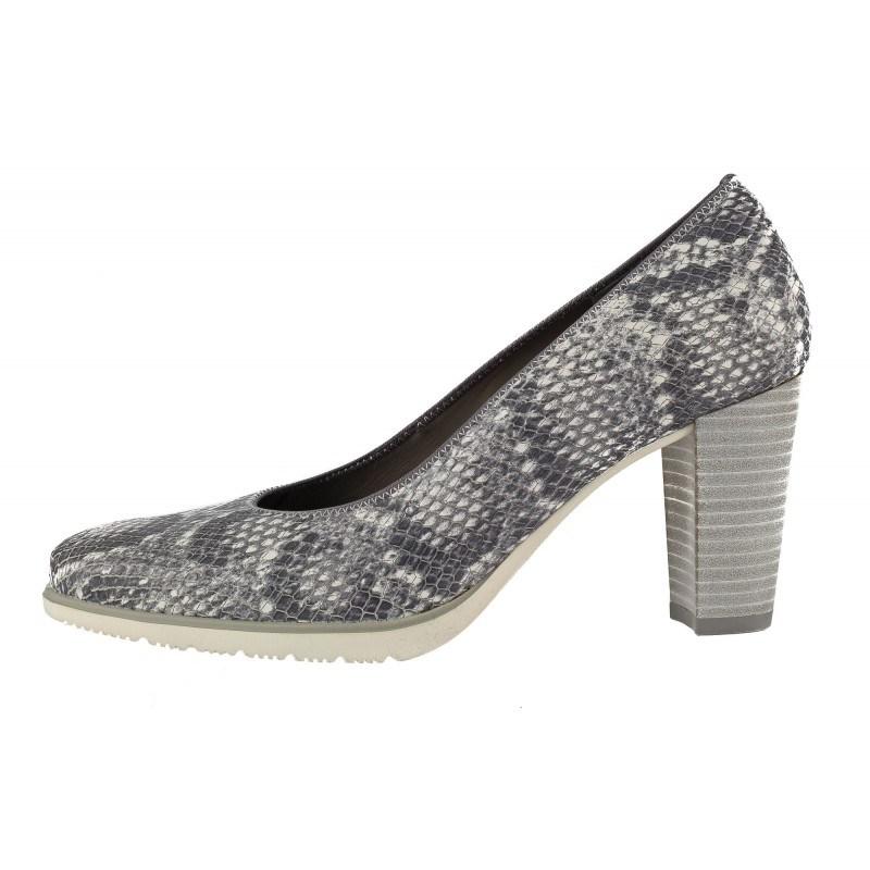 Дамски обувки на висок ток Ara принт сиви