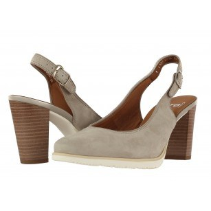 Дамски кожени сандали на ток Ara бежови Extralight