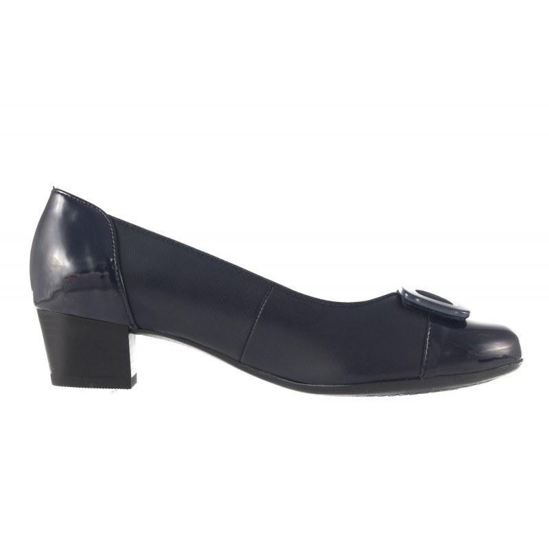 Дамски кожени обувки на среден ток Ara сини