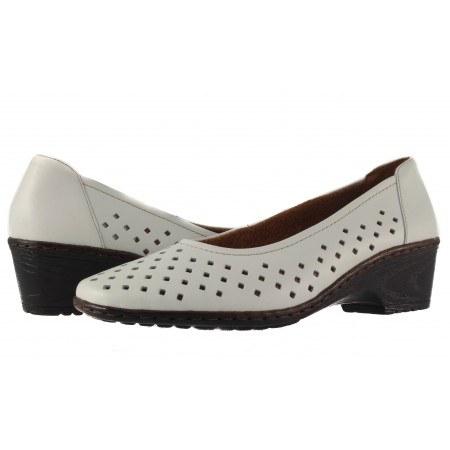 Летни дамски обувки от естествена кожа Ara Jenny бели