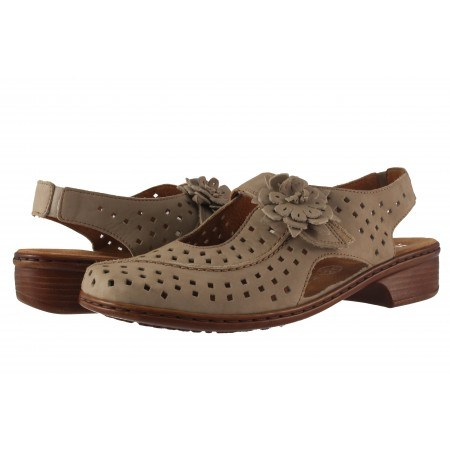Дамски кожени обувки с перфорация Ara бежови