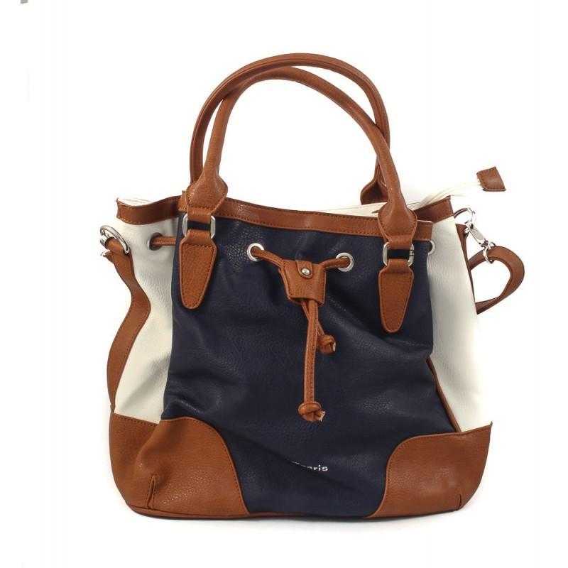 Дамска средна чанта Tamaris бяла/синя/кафява
