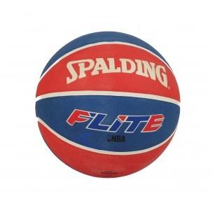 Баскетболна топка NBA Spalding Flite синя/червена