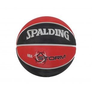Баскетболна топка NBA Spalding Storm черна/червена