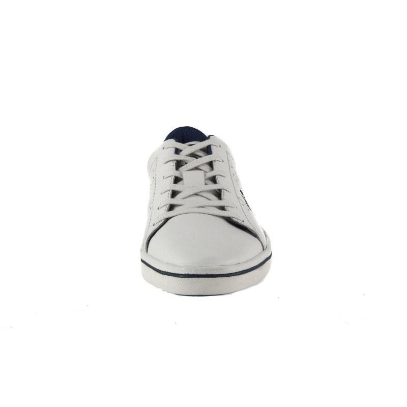 Мъжки кожени обувки с връзки Bugatti® бели