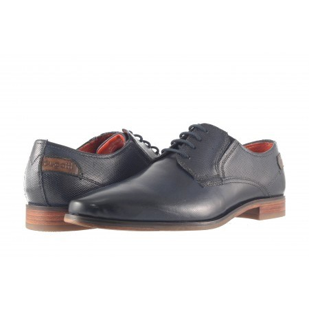 Мъжки елегантни обувки естествена кожа Bugatti® сини