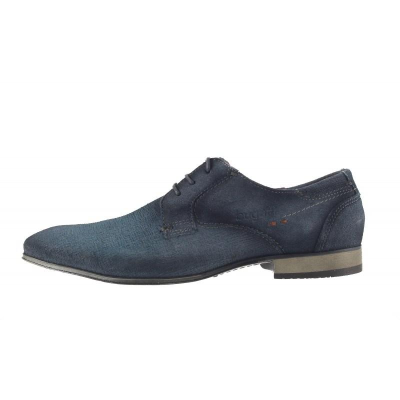 Мъжки кожени обувки с връзки Bugatti® сини