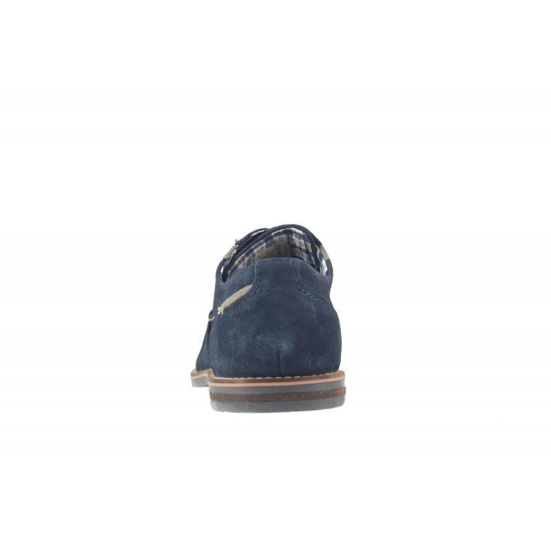 Мъжки велурени обувки с връзки Bugatti® сини