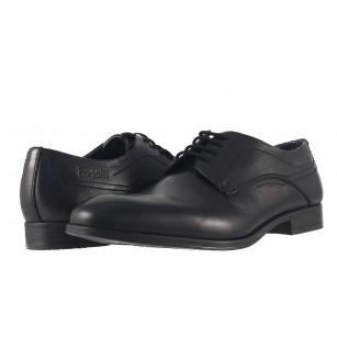 Мъжки кожени обувки с връзки Bugatti® черни