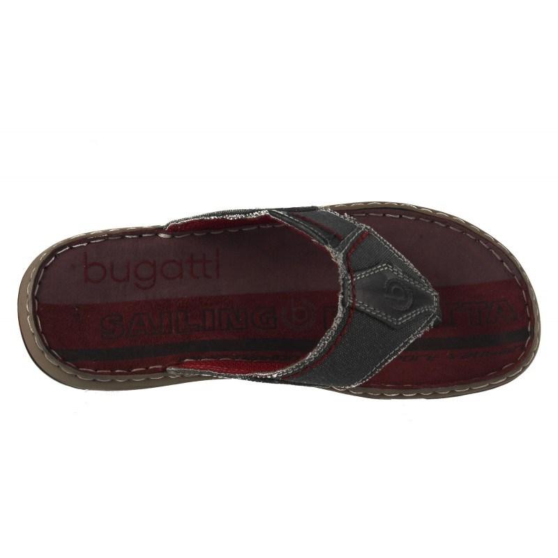 Мъжки чехли Bugatti сиво/червени