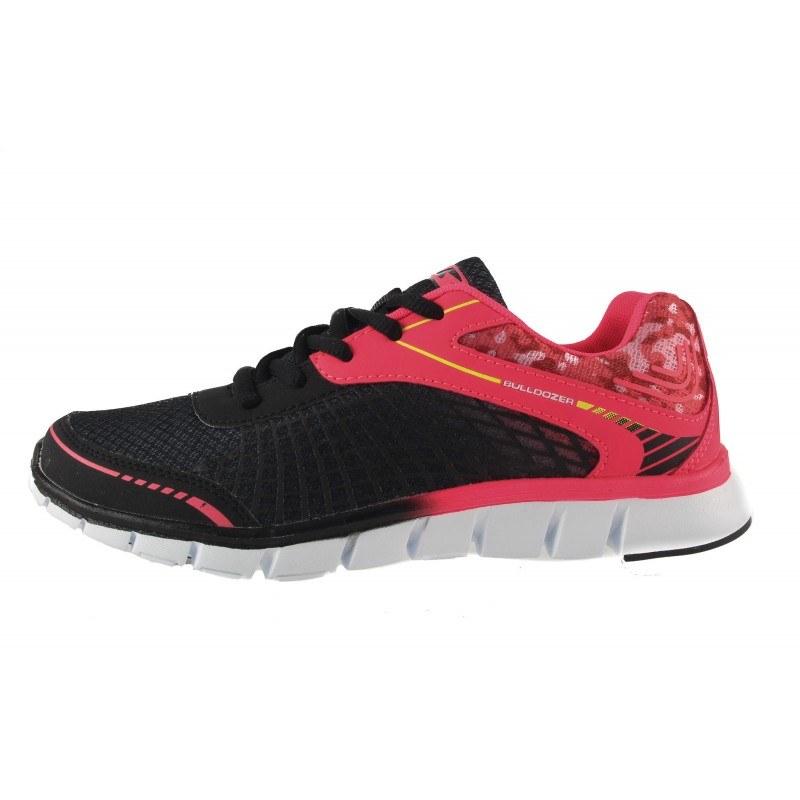 Дамски маратонки с връзки Bulldozer черни-розови 6034001