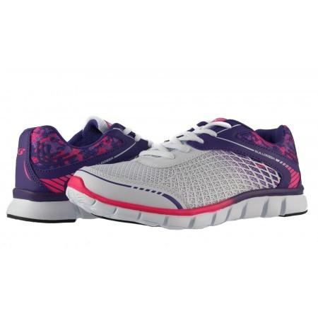 Дамски маратонки с връзки Bulldozer бели-пурпурни 6034100