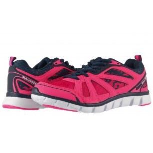 Дамски маратонки с връзки Bulldozer розови комби 6041900