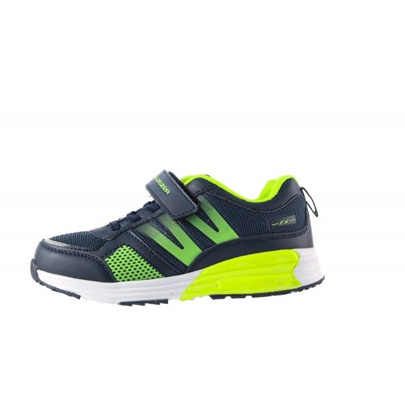 Детски маратонки с връзки черно-зелени Bulldozer 31-35