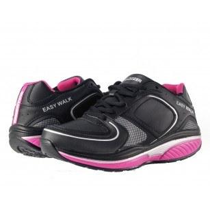 Дамски маратонки с връзки Bulldozer easy walk черни