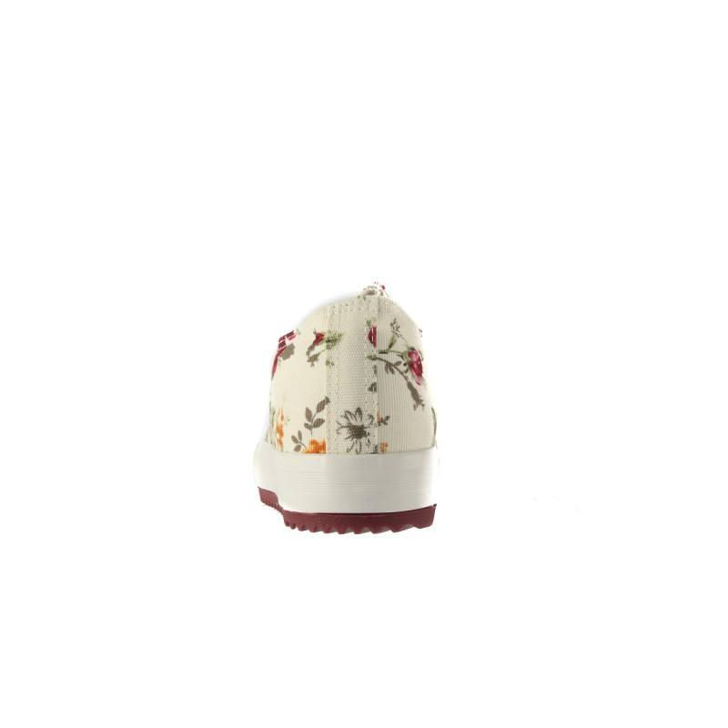 Дамски гуменки с връзки Bulldozer червени с цветя