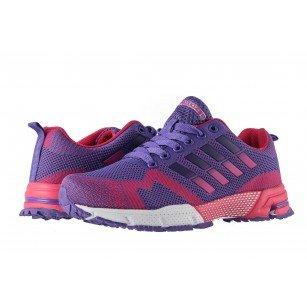 Дамски маратонки с връзки Bulldozer лилави