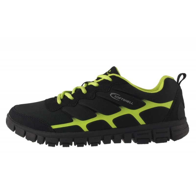 Мъжки маратонки Mania чернo-зелени 431001