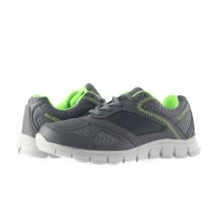 Мъжки маратонки с връзки сиво-зелени Bulldozer