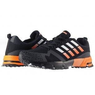 Мъжки маратонки с връзки Bulldozer черно оранжеви