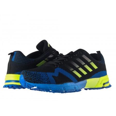 Мъжки маратонки с връзки Bulldozer черно сини
