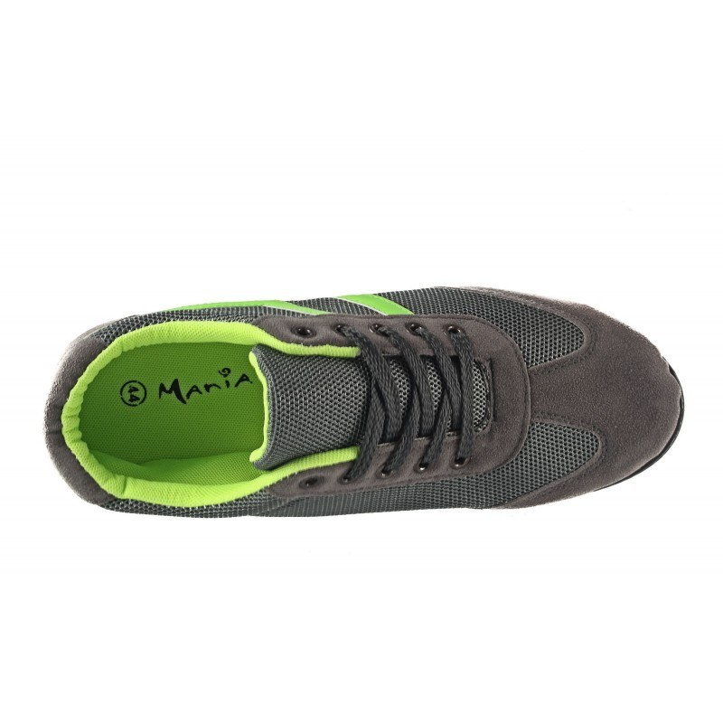 Мъжки спортни обувки Mania сиви комби 703206