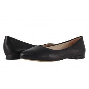 Дамски обувки балерина черна кожа Caprice sacchetto