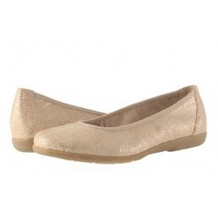 Дамски равни обувки балерина Caprice златисти 22150442