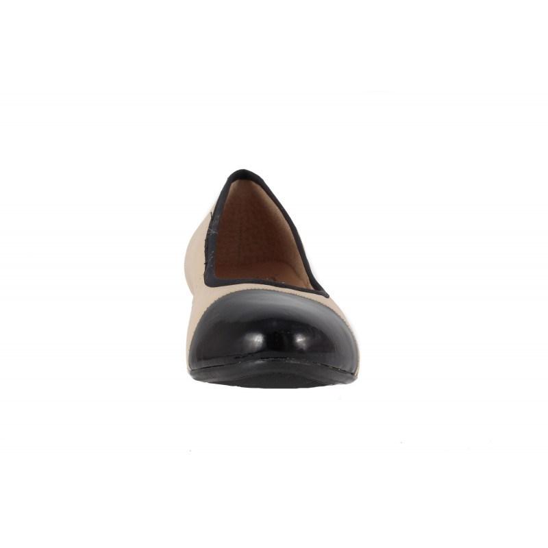 Дамски кожени обувки на ток Caprice бежови