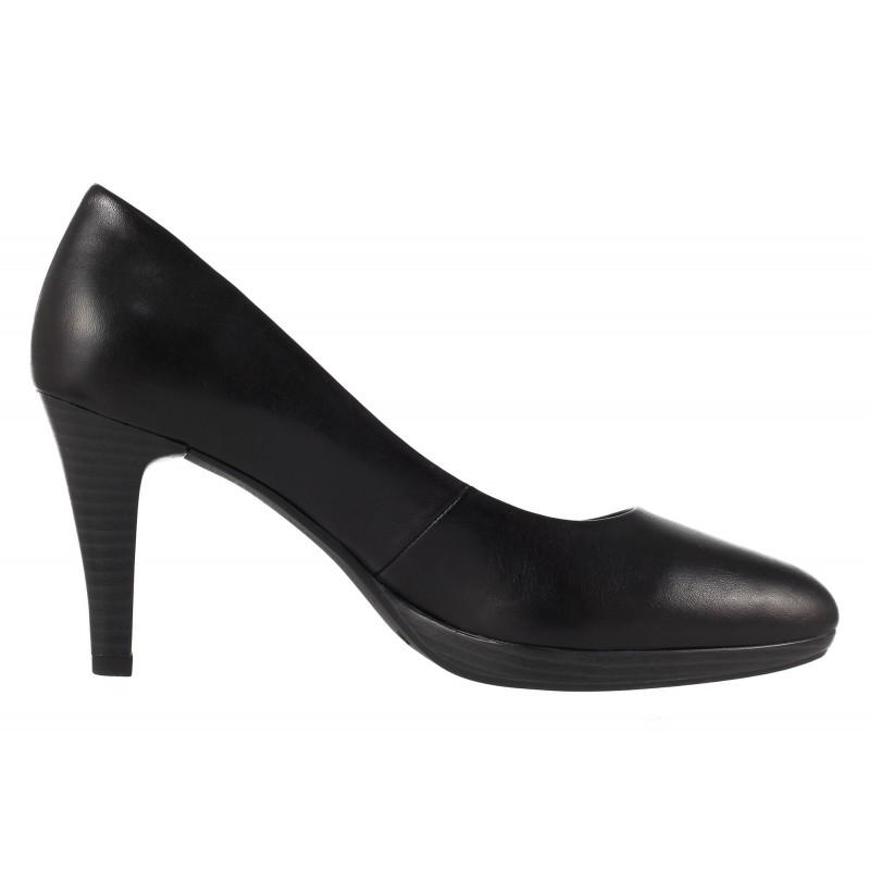 Дамски елегантни обувки на висок ток Caprice черна кожа