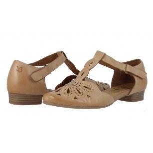 Дамски кожени летни обувки Caprice бежови