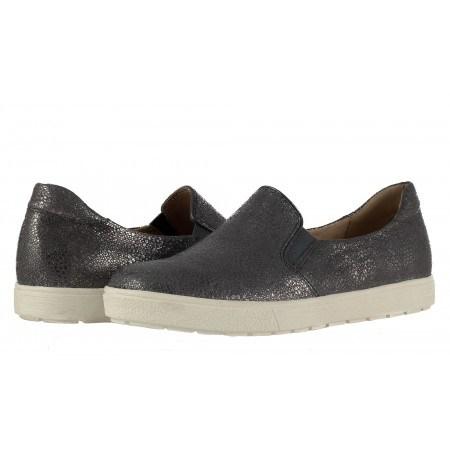 Дамски кожени обувки гуменки Caprice сиви 24662224