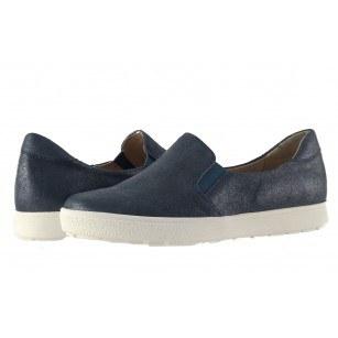 Дамски кожени обувки гуменки Caprice сини 24662892