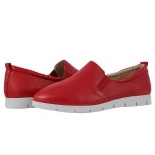 Дамски спортни обувки естествена кожа Caprice червени