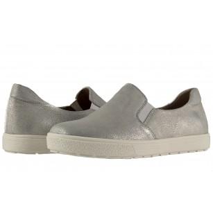 Дамски кожени обувки гуменки Caprice сребристи