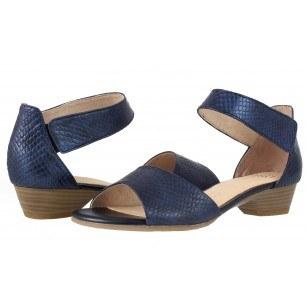 Дамски кожени сандали Caprice сини