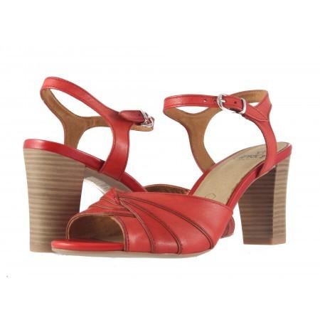 Дамски елегантни сандали на висок ток Caprice червени