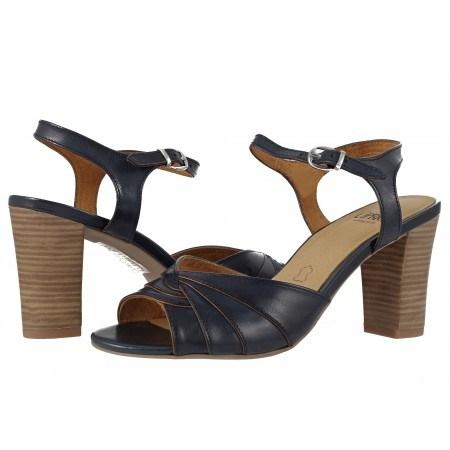 Дамски елегантни сандали на висок ток Caprice сини