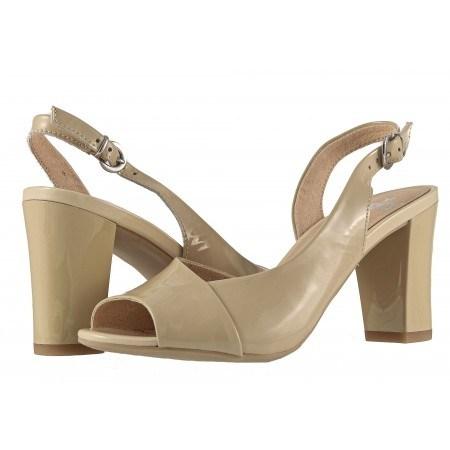 Дамски отворени бежови обувки на висок ток Caprice